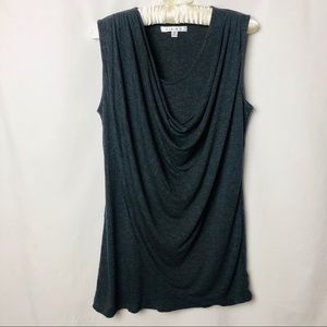Cabi Swoop Neck Line Sleeveless Rayon Blouse M